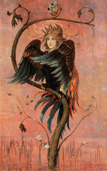 Wall Art - Painting - The Bird Gamayun, 1898 by Viktor Vasnetsov