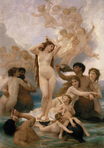 Wall Art - Painting - The Birth Of Venus, 1879 by William-Adolphe Bouguereau