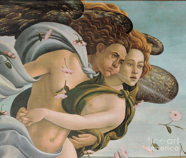 Wall Art - Painting - The Birth Of Venus, Detail, Tempera On Canvas by Sandro Botticelli