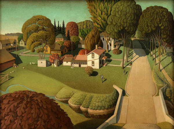 Wall Art - Painting - The Birthplace Of Herbert Hoover, 1931 by Grant Wood
