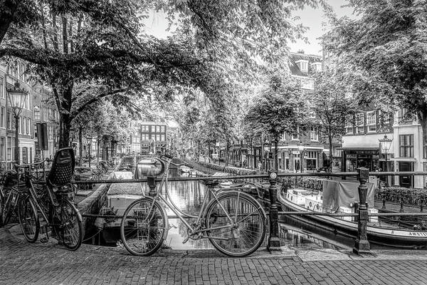 Photograph - The Black Bike In Amsterdam by Debra and Dave Vanderlaan
