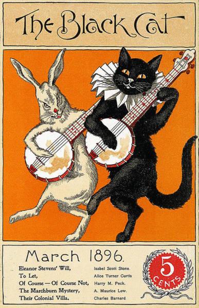 Play Music Digital Art - The Black Cat by Long Shot