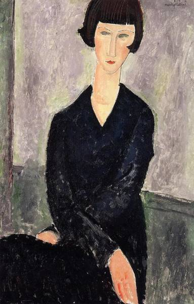 Wall Art - Painting - The Black Dress - 1918 - Private Collection - Painting - Oil On Canvas by Modigliani Amedeo