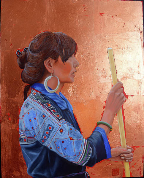 Painting - The Black Hmong Princess by Thu Nguyen
