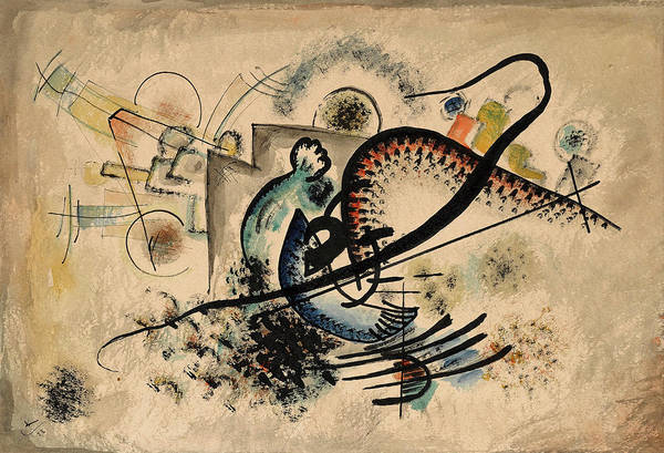 Wall Art - Painting - The Black Line, 1922 by Wassily Kandinsky