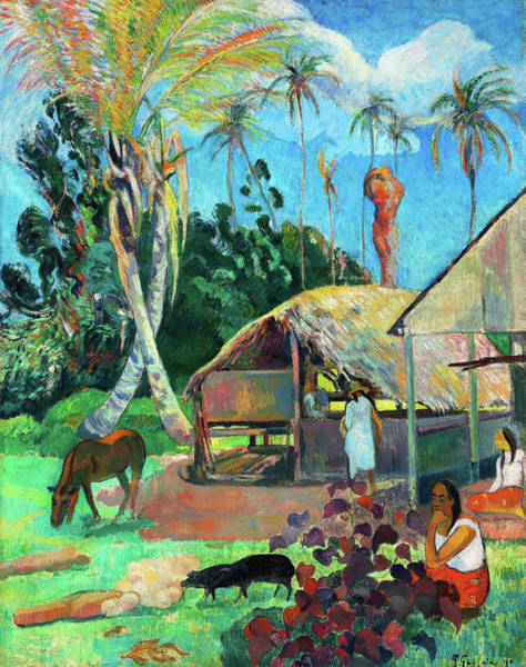 Wall Art - Painting - The Black Pigs - Digital Remastered Edition by Paul Gauguin
