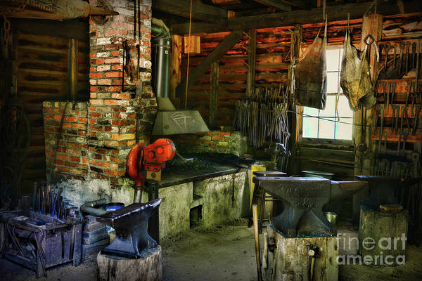 Wall Art - Photograph - The Blacksmith And His Forge by Paul Ward