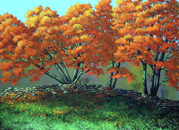 Wall Art - Painting - The Blaze Of Autumn by Frank Wilson