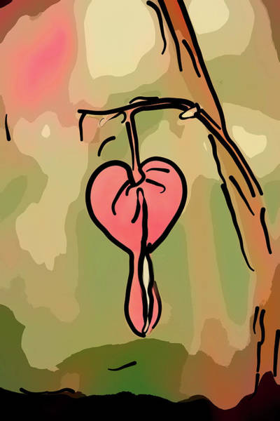 Mixed Media - The Bleeding Heart by Trish Tritz