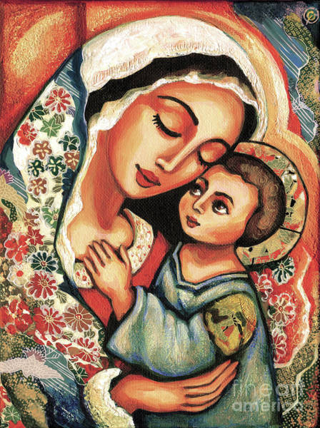 Divine Love Wall Art - Painting - The Blessed Mother by Eva Campbell