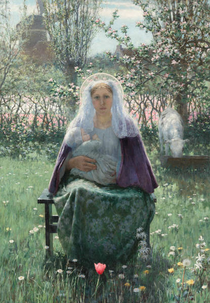 Painting - The Blessed Mother by George Hitchcock
