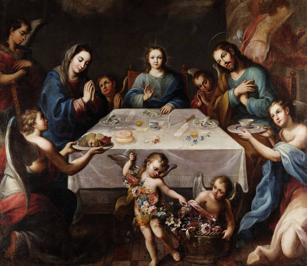 Sacrament Wall Art - Painting - The Blessing Of The Table by Jose de Alcibar