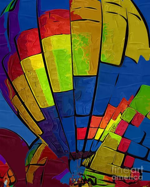 Digital Art - The Blue Balloon by Kirt Tisdale