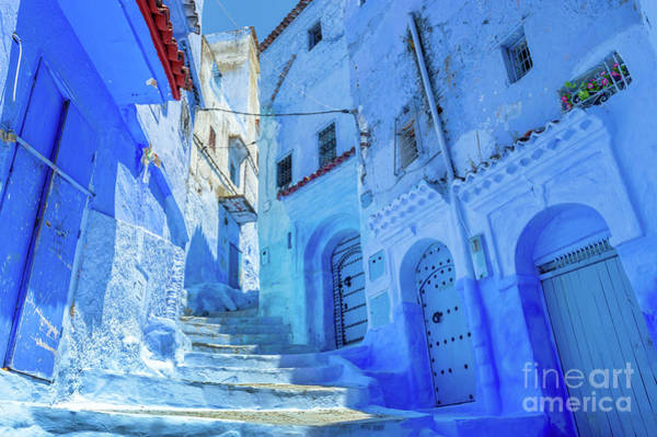 Wall Art - Photograph - The Blue City, Chefchaouen, Morocco by Louise Poggianti