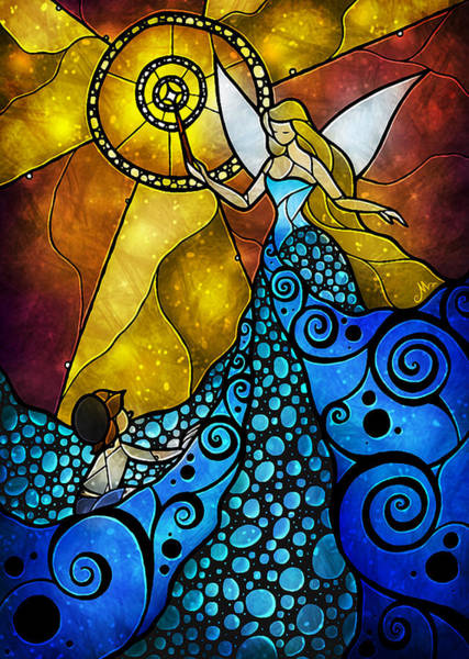 Mixed Media - The Blue Fairy by Mandie Manzano