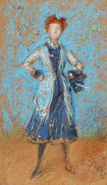 Wall Art - Painting - The Blue Girl - Digital Remastered Edition by James McNeill Whistler