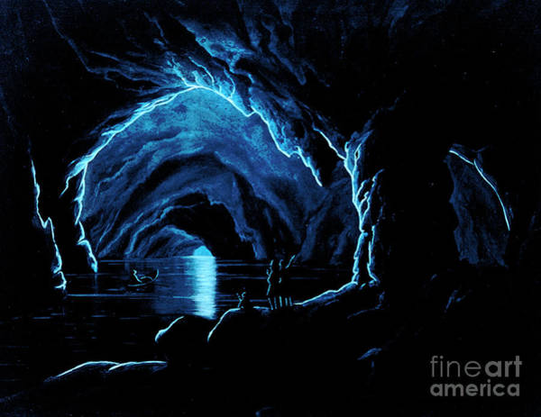 Wall Art - Painting - The Blue Grotto On The Island Of Capri by Giorgio Sommer