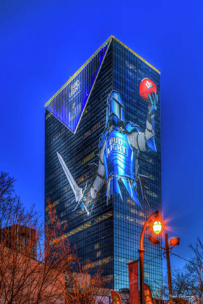 Wall Art - Photograph - The Blue Knight Bud Light Super Bowl L111 2019 Atlanta Georgia Art by Reid Callaway