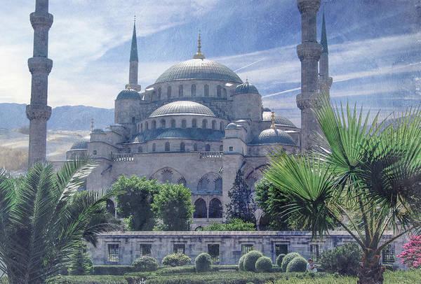 Mosque Digital Art - The Blue Mosque by Terry Davis