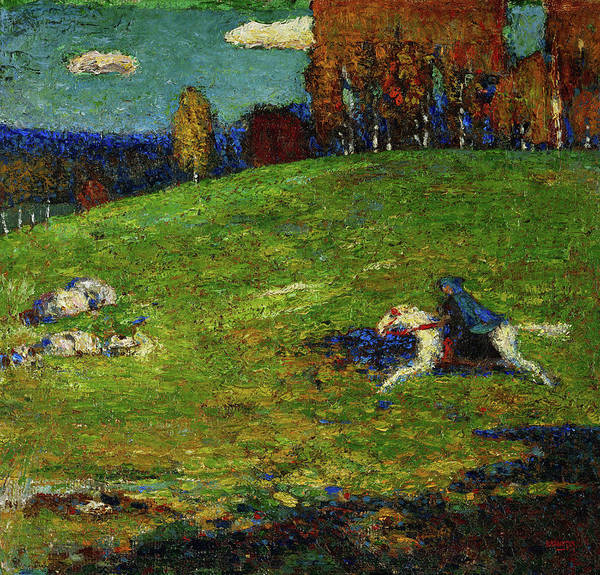 Wassily Kandinsky Painting - The Blue Rider, 1903 by Wassily Kandinsky