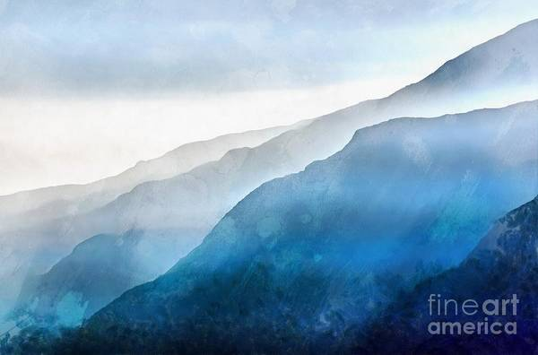 Hiking Digital Art - The Blue Ridge Mountain 1 Painting by Edward Fielding