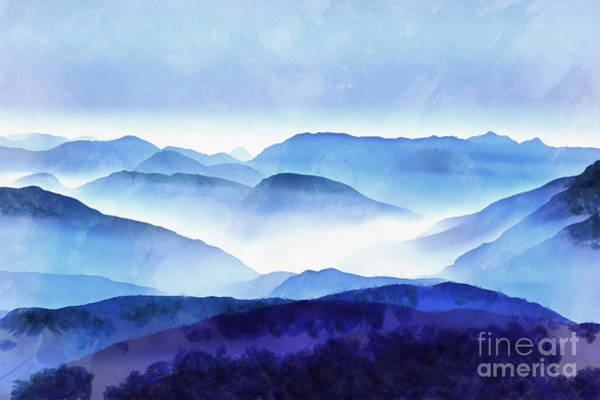 Wall Art - Photograph - The Blue Ridge Mountain 2 Painting by Edward Fielding