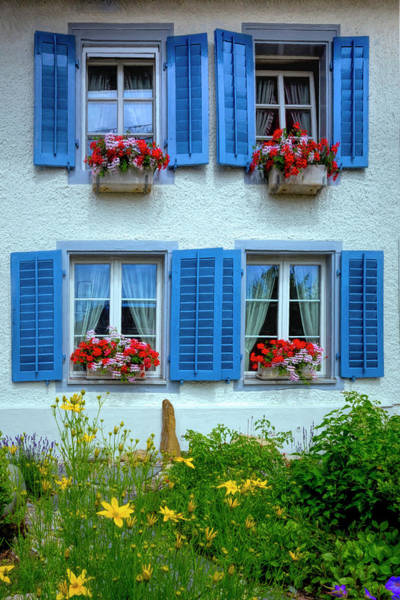 Wall Art - Photograph - The Blue Shutters by Debra and Dave Vanderlaan