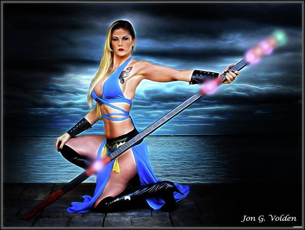 Photograph - The Blue Sorceress by Jon Volden