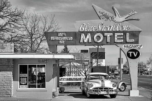 Photograph - The Blue Swallow Motel by JC Findley