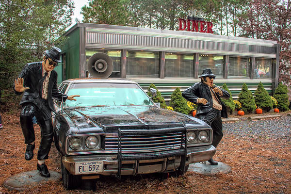 Photograph - The Blues Brothers At A Diner by Kristia Adams