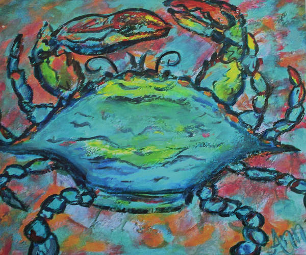Wall Art - Painting - The Blues For Crab by Ann Lutz