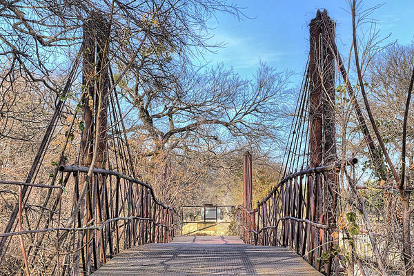 Photograph - The Bluff Dale Suspension Bridge by JC Findley
