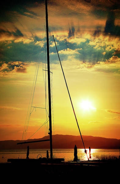 Photograph - the Boat and the Sky by Milena Ilieva