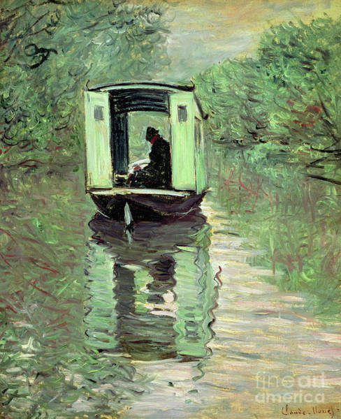 Wall Art - Painting - The Boat Studio, 1876 by Claude Monet