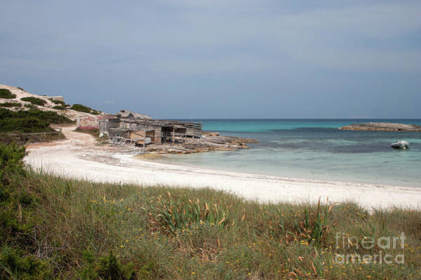Baleares Photograph - The Boathouse And The Beach by John Edwards