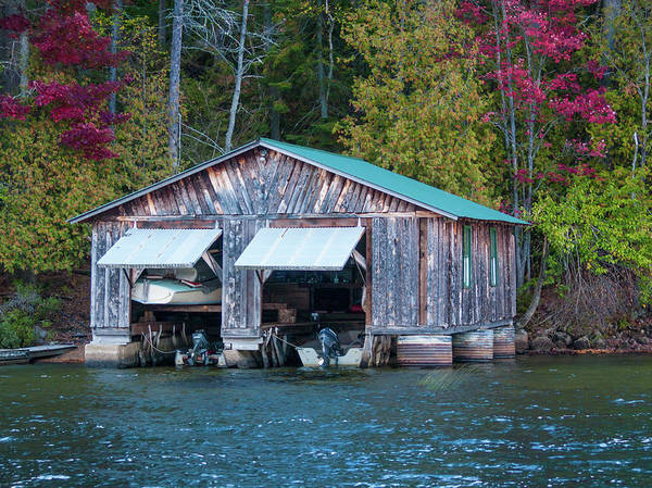 Photograph - The Boathouse by Stewart Helberg