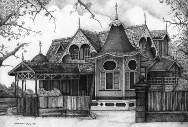 Trinidad Drawing - The Boissiere House by Donna Tull