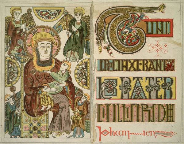 Publication Photograph - The Book Of Kells by Hulton Archive