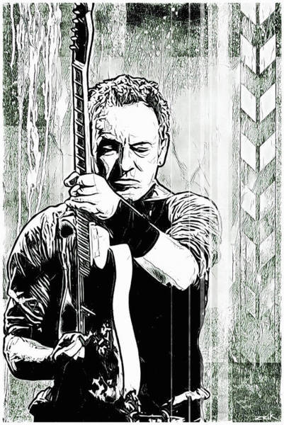 Wall Art - Painting - The Boss - Noir Version by Bobby Zeik