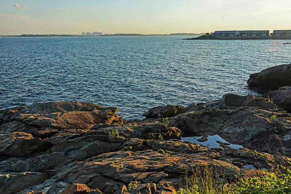 Photograph - The Boston Skyline From Bailey's Point Nahant Ma by Toby McGuire