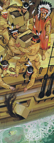 Wall Art - Painting - The Boston Tea Party by Angus McBride