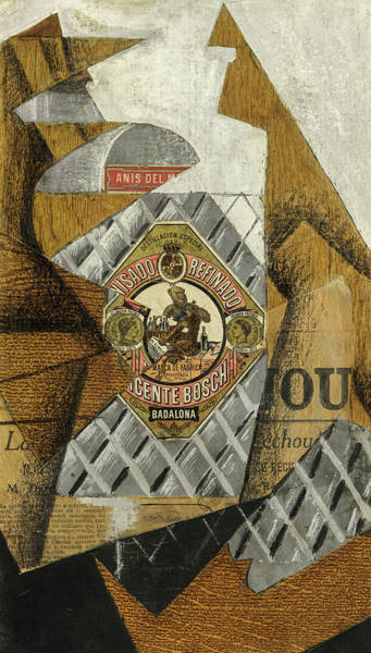 Wall Art - Painting - The Bottle Of Anis Del Mono, 1914 by Juan Gris