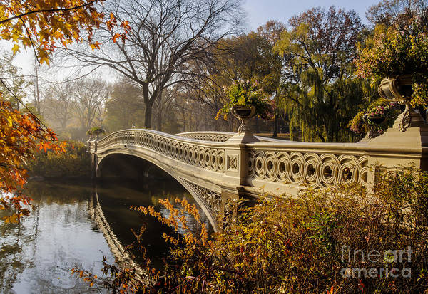 Cast Photograph - The Bow Bridge  Is A Cast Iron Bridge by John A. Anderson