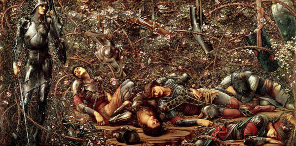 Wall Art - Painting - The Briar Wood by Edward Burne-Jones