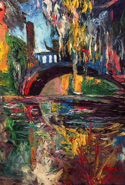 Painting - The Bridge At City Park New Orleans by Amzie Adams