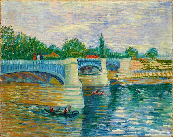 Wall Art - Painting - The Bridge At Courbevoie - Digital Remastered Edition by Vincent van Gogh