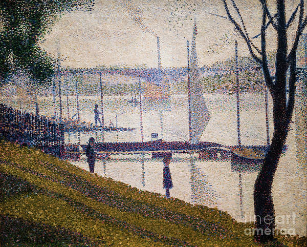 Painting - The Bridge At Courbevoie by Georges Seurat