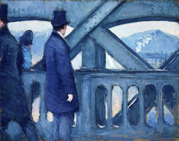 Wall Art - Painting - The Bridge Of Europe, Sketch - Digital Remastered Edition by Gustave Caillebotte