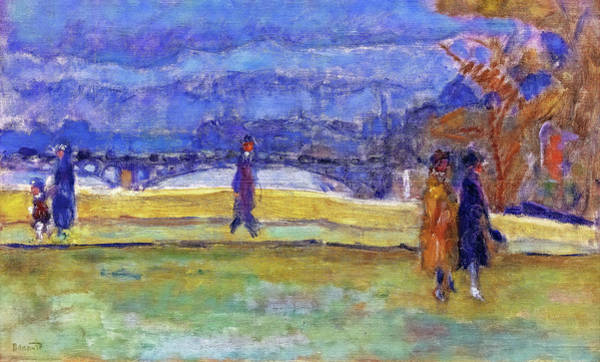Avenue Painting - The Bridge Of Holy Fathers - Digital Remastered Edition by Pierre Bonnard