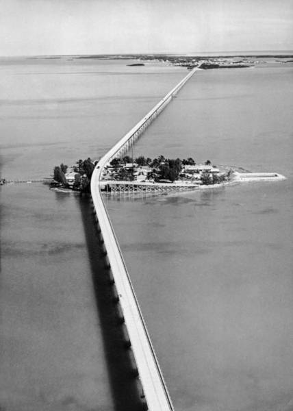 Florida Photograph - The Bridge Of Key West In Florida In by Keystone-france